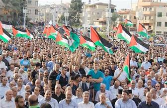 آلاف الفلسطينيين يحتشدون في غزة للمشاركة في مهرجان الوحدة والدولة