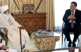 """""""السراج"""" يشيد بجهود عمان في تشجيع التسامح ونبذ العنف خلال لقائه مفتي السلطنة"""