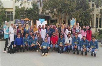 الاتحاد المصري لطلاب صيدلة المنصورة ينظم معرضًا للتعريف بمجالات العمل | صور