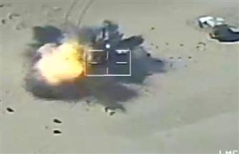 كيف قصفت القوات المسلحة عربات الأسلحة القادمة من ليبيا؟ | فيديو وصور