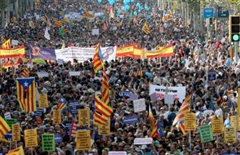 مظاهرة حاشدة في برشلونة للمطالبة بالإفراج عن السجناء السياسيين