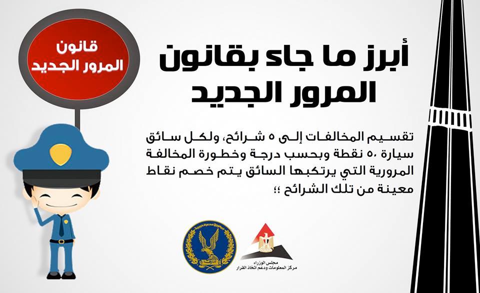 مخالفات المرور في مصر 2018