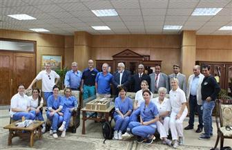 وفد التمريض الهولندي ينهي زيارته لجامعة جنوب الوادي بعد ورش عمل لـ 400 طالب   صور