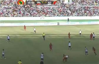 بعد مرور 25 دقيقة.. مصر وغانا بدون أهداف وإكرامي يظهر