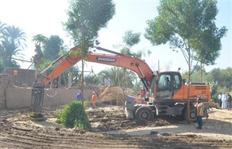 إزالة 109 حالات تعد على الأراضي الزراعية بمركز ملوي في المنيا
