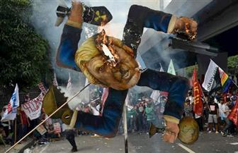 مظاهرات لليوم الثاني على التوالي في مانيلا احتجاجًا على زيارة ترامب