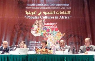 """""""الثقافات الشعبية والفنون البصرية"""" في اليوم الثانى للملتقى الإفريقي الدولى   صور"""