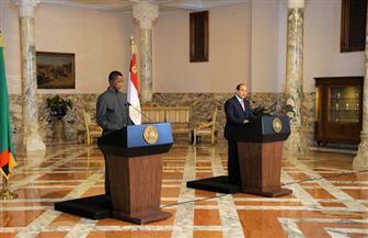 نص كلمة الرئيس السيسي خلال المؤتمر الصحفى مع نظيره الزامبي بقصر الاتحادية