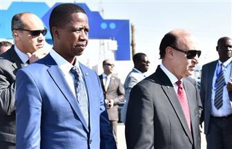 مميش ورئيس جمهورية زامبيا يتفقدان المزارع السمكية بقناة السويس | صور