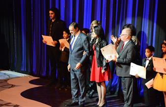 وزير الثقافة وإيناس عبد الدايم  يسلمان الفائزين جوائز مسابقات مهرجان الموسيقى العربية | صور