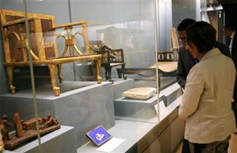 قرينة رئيس البرلمان المجري تزور المتحف القومي للحضارة المصرية | صور