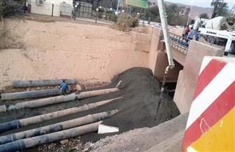 انفجار مواسير الصرف الصحي لمصنع كيما في النيل بأسوان | صور