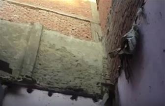 """شهود عيان: """"حظيرة دواجن"""" تسببت في انهيار منزل من طابقين بالفيوم  فيديو"""