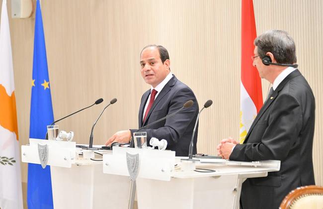 الرئيس السيسي: نتطلع إلى توظيف العلاقات السياسية المتميزة مع قبرص في بناء شراكة إستراتيجية صور -