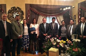 """وزيرة الهجرة تجتمع مع """"حنورة"""" وخبراء وزارة الري لتحديد المحاور الفنية لمؤتمر """"مصر تستطيع ٣"""""""