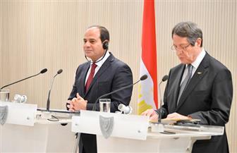 رئيس قبرص: التعاون الاقتصادي ركيزة العلاقات المصرية - القبرصية