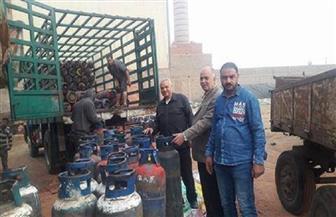غلق 6 مصانع للطوب الطفلي والتحفظ على 263 أسطوانة بوتاجاز بميت غمر