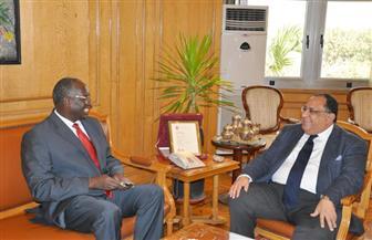 رئيس جامعة حلون يستقبل سفير جنوب السودان بالقاهرة