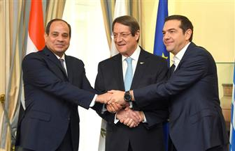 تفاصيل القمة الثلاثية بين مصر وقبرص واليونان.. ونص كلمة الرئيس السيسي | صور