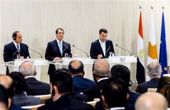 الرئيس السيسي يغادر نيقوسيا بعد مشاركته بالقمة الثلاثية