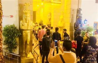 """متحف النيل بأسوان يستقبل 90  شابًا  وفتاة ضمن  قطار """"الطلائع """""""