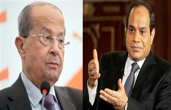 الرئيس السيسى يتلقي اتصالًا من ميشال عون.. ويؤكد أهمية الحفاظ على استقرار لبنان