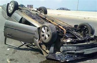 إصابة 10 في انقلاب سيارة ملاكي بطريق الفيوم الصحراوي
