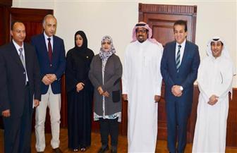 وزير التعليم العالي يلتقي  الملاحق الثقافية لخمس دول خليجية|صور
