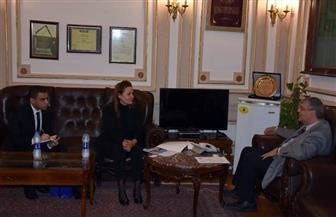 جامعة القاهرة تستقبل سفيرة لاتفيا لبحث أوجه التعاون المشتركة