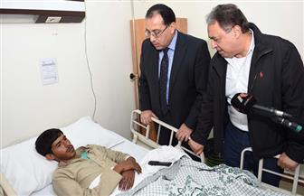 وزير الصحة والقائم بأعمال الوزراء يتفقدان المصابين بحادث سيناء في معهد ناصر