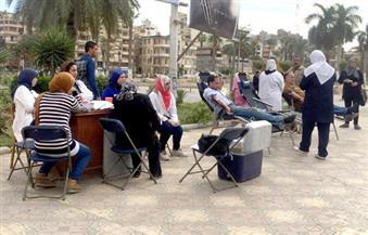 أبناء بورسعيد يتبرعون بدمائهم لمصابى حادث مسجد الروضة بالعريش
