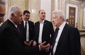 فرج عامر يهنئ مرتضى منصور برئاسة نادي الزمالك