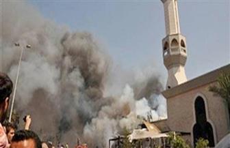 أهالي كفر شكر يودعون شهيد مسجد الروضة وسط هتافات تطالب بالقصاص