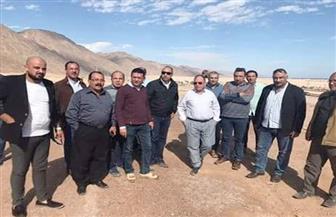 """رئيس """"الوطنية للمقاولات"""" يتفقد مشروعات السيول في جنوب سيناء"""