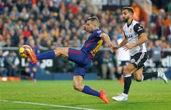 ألبا ينقذ برشلونة من الخسارة أمام فالنسيا فى الدورى الإسبانى