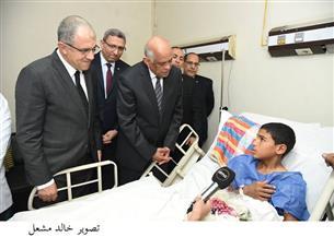 رئيس مجلس النواب يزور مصابي حادث الروضة