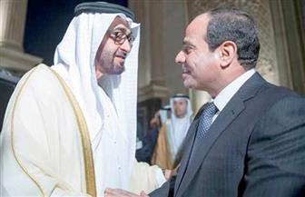 ولي عهد أبوظبي يؤكد للرئيس السيسي ضرورة تعزيز العمل العربي المشترك  لمكافحة الإرهاب