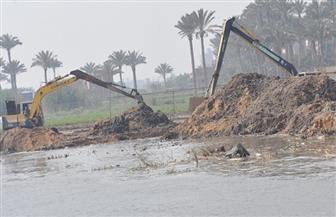 """""""المسطحات المائية"""" بالإسكندرية تزيل تعديات على مصرف النوبارية ومنشآت مخالفة للبيئة"""