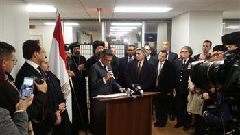 القنصلية المصرية تستقبل الشخصيات العامة بنيويورك للعزاء والتنديد بجريمة مسجد الروضة