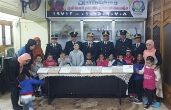 الداخلية توفد ضباطًا لزيارة عدد من دور الأيتام بمناسبة الاحتفال بالمولد النبوي الشريف | صور