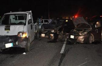 كثافات مرورية أعلى دائري الرماية بسبب حادث تصادم ٥ سيارات