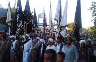 انطلاق مسيرات حاشدة بشوارع أسوان احتفالًا بالمولد النبوي الشريف| صور