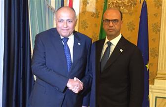 شكري يلتقي نظيره الإيطالي في روما ويبحثان الملفات الساخنة وبينها سد النهضة والوضع الليبي