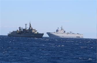 """قائد القوات البحرية المصرية ووزير الدفاع اليوناني يشهدان التدريب البحري الجوي """"ميدوزا"""""""
