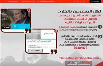 علشان تبنيها تطلق موقعًا إلكترونيًا للمصريين بالخارج لدعم ترشيح الرئيس.. وإقبال كبير على استمارات الحملة