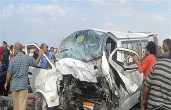 """إصابة 15 في حادث تصادم سيارتين ميكروباص علي طريق """"دسوق - بسيون"""" بكفرالشيخ"""