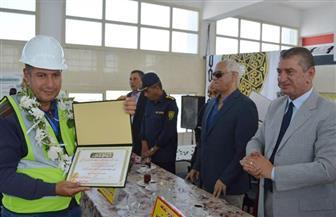 محافظ كفر الشيخ يكرم العاملين بمحطة مياه المفتي بسيدي سالم لحصولهم على شهادة الجودة | صور