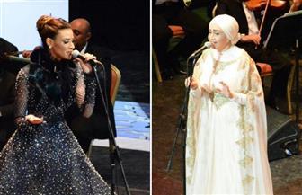 آيات فاروق وأميمة طالب ينتهيان من الفاصل الأول من حفل مهرجان الموسيقى العربية
