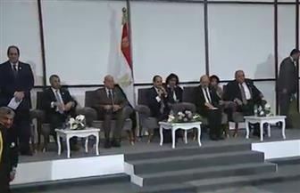 """وصول الرئيس السيسي إلى مقر الجلسة الختامية لمحاكاة مجلس الأمن بـ""""منتدى الشباب"""""""