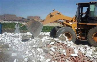 إزالة 12 حالة تعدِ بالبناء و15 حالة إشغال وتعديات على أراضي أملاك دولة بالفيوم